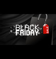 black friday banner design on fabric background vector image vector image