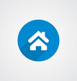 Blue flat Home Icon vector image