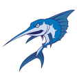 Blue marlin mascot vector image