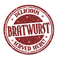 bratwurst sign or stamp vector image vector image