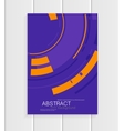 brochure in abstract style with yellow vector image vector image