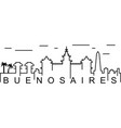 buenos aires outline icon can be used for web vector image