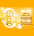 camomile essential oil cosmetic product ad vector image vector image