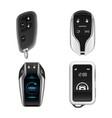 car alarm system remote control key model vector image vector image