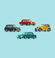 car vehicle set icons transport automobile vector image