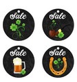 cardboard hanging price stickers for st patrick s vector image vector image