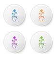 color medical marijuana or cannabis plant in pot vector image vector image