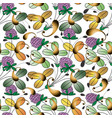 colorful floral paisley seamless pattern bright vector image