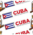 cuba travel destination cuban rum and cigar vector image vector image