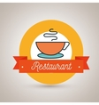 cup coffee restaurant icon vector image vector image