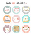cute bacat with cartoon hand drawn style vector image vector image