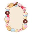 Desserts frame vector image vector image