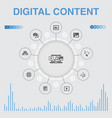 digital content infographic with icons contains vector image vector image