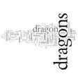 dragons through history vector image vector image