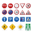european traffic signs collection signs danger vector image