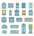 exterior set of different plastic or wooden vector image vector image