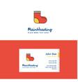 flat socks logo and visiting card template vector image vector image