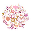floral background sketch for your design vector image vector image