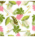 floral pattern with chestnut vector image vector image
