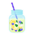 fruit water icon natural freshness and vector image vector image