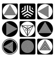 geometric design elements vector image