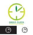 greenclock vector image