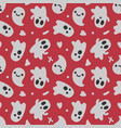 halloween background seamless pattern cute vector image vector image