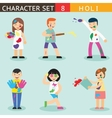 Holiday Season Colours Holi People Happy vector image vector image
