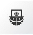 laptop communication icon symbol premium quality vector image