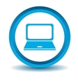 Laptop icon blue 3D vector image vector image