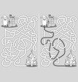 little cat maze vector image