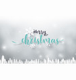 merry christmas and happy new year landscape vector image vector image