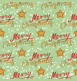 merry christmas seamless pattern with stars vector image vector image
