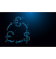 money exchange icon from lines and particle vector image vector image