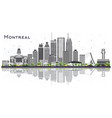 montreal canada city skyline with gray buildings vector image