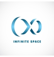 Negative Space Abstract Infinity Sign vector image vector image