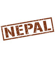 nepal brown square stamp vector image vector image