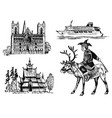 norway culture set national symbols norwegian vector image