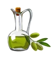 olive oil with olives painted vector image vector image
