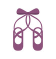 pair pointe ballet shoes slippers icon vector image vector image