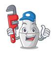 plumber nesting doll russian matryoshka on mascot vector image