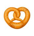 pretzel salt and soft for vector image vector image