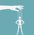 puppet standing with hands on hips vector image vector image