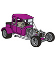 Purple hot rod vector image