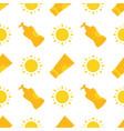 seamless pattern with bottles tubes sunscreen vector image vector image