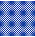 seamless pattern with white dots on blue vector image vector image