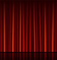 Seamless red curtain with stage vector | Price: 1 Credit (USD $1)