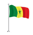 senegalese flag isolated wave flag senegal vector image