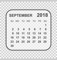 september 2018 calendar calendar planner design vector image