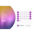 september 2019 desk calendar for 2019 year design vector image vector image